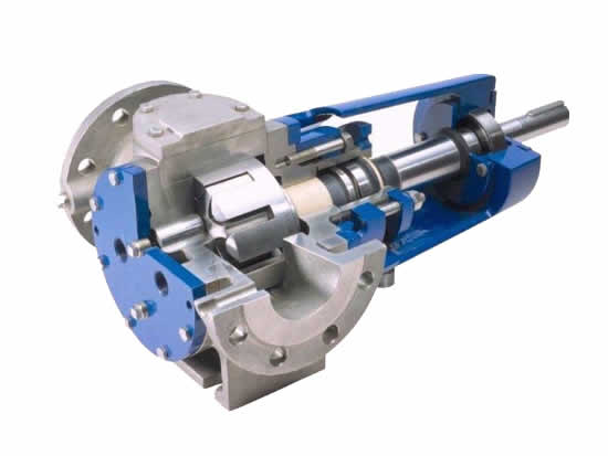 NYP type Internal gear pump with safety valve
